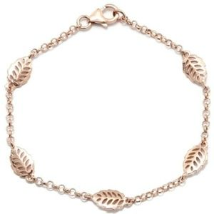 Jewelry - 14k Rose Gold over Sterling Silver Leaf bracelet